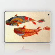 Laptop & iPad Skin featuring Kolors Koi by Fernando Vieira