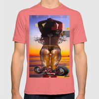 SUN SET PART II Mens Fitted Tee Pomegranate SMALL