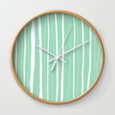 Vertical Living Mint Wall Clock