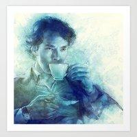 tea Art Prints featuring Tea by Anna Dittmann