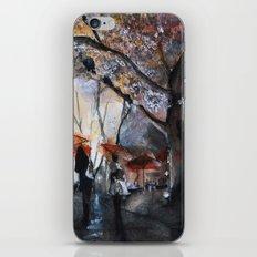 Autumn rain - watercolor iPhone & iPod Skin