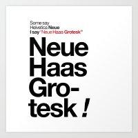 Helvetica Neue / Neue Ha… Art Print