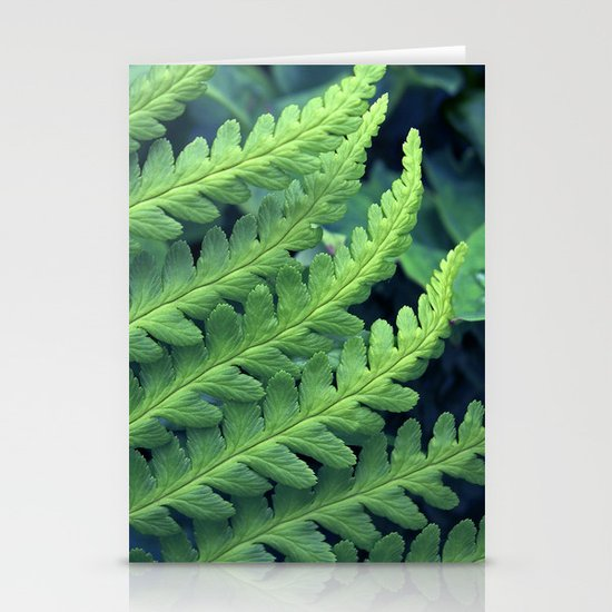 green fern abstract VII Stationery Card