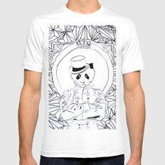 Pandi-Panda SMALL White Mens Fitted Tee
