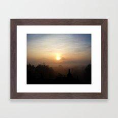 Sunrise at Borobudur, Indonesia  Framed Art Print
