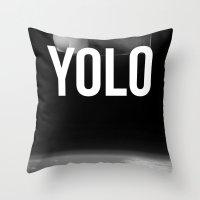 Felix Baumgartner YOLO Throw Pillow