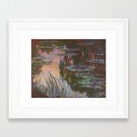 Water Lilies - Setting S… Framed Art Print