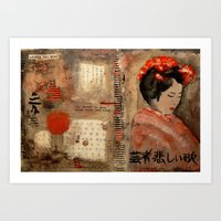GEISHA SAD SONG Art Print