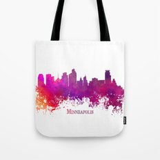 Minneapolis skyline purple Tote Bag