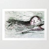 Go Swimming Art Print