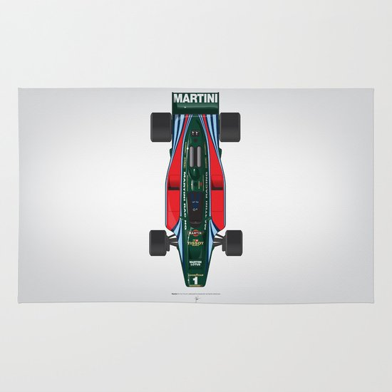 Outline Series N.º2, Mario Andretti, Lotus 80-Ford 1980 Area & Throw Rug
