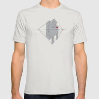 Robot Mens Fitted Tee Silver SMALL