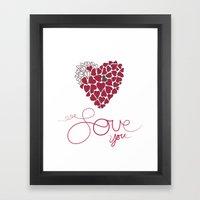Love You . . . Framed Art Print