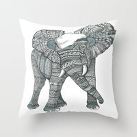 Humble Elephant Throw Pillow