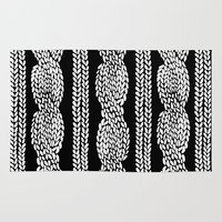 Cable Row Black Rug