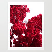 Red Tree V Art Print