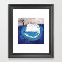 FRINGED RUG Framed Art Print