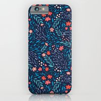 Teeny Tiny Floral Blue iPhone 6 Slim Case
