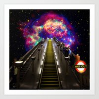 Stairway To Nowhere And … Art Print