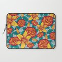 Flowers - Red Laptop Sleeve