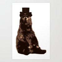 Bear in Hat Art Print
