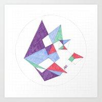 Kite-netic #1 Art Print