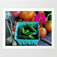Jalapeno Peppers Art Print