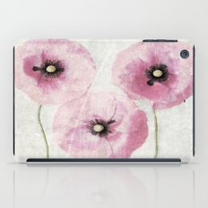 Pink Vintage Poppies iPad Case