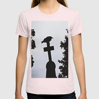 Pere-Lachaise Raven Womens Fitted Tee Light Pink SMALL