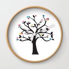 Love Blossoms Wall Clock