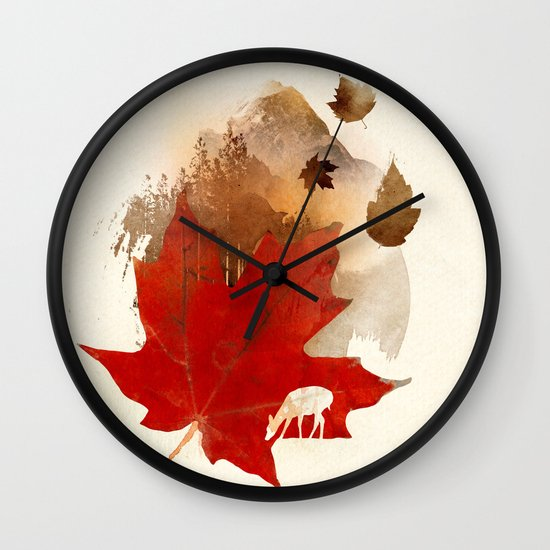 Autmn is coming Wall Clock