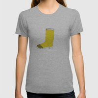 My Favorite Yellow Boot Womens Fitted Tee Athletic Grey SMALL