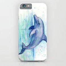 Dolphin Watercolor Sea Creature Art iPhone 6 Slim Case