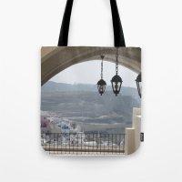 Lighting Santorini, Greece Tote Bag