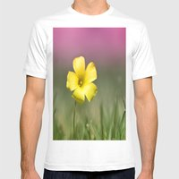 Yellow on Pink Mens Fitted Tee White SMALL