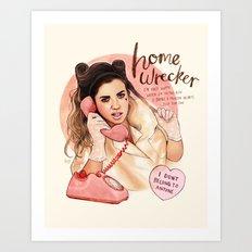 Homewrecker Art Print
