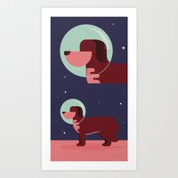 Space Dog Art Print