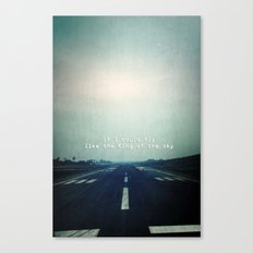 If I could fly Canvas Print