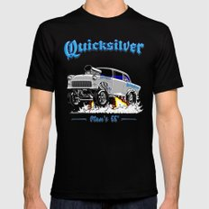 QUICKSILVER-2 Gasser Mens Fitted Tee Black SMALL