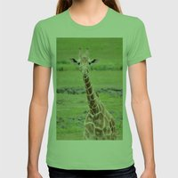 Smiling Giraffe Womens Fitted Tee Grass SMALL