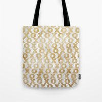Xoxo Gold Tote Bag