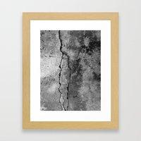 Broken Stone Texture Framed Art Print