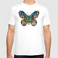 Butterflied Mens Fitted Tee White SMALL