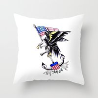 American Traditional Throw Pillow