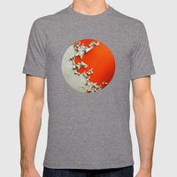 Orange Paper Peel Mens Fitted Tee Tri-Grey SMALL