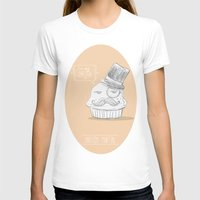 british muffin Womens Fitted Tee White SMALL