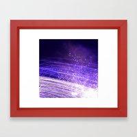 Purple galaxy Framed Art Print