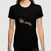 The Nut Express Womens Fitted Tee Black SMALL