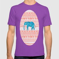 Elephant Blues Mens Fitted Tee Ultraviolet SMALL