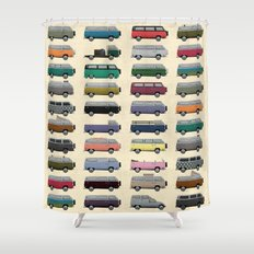 Camper Van Shower Curtain